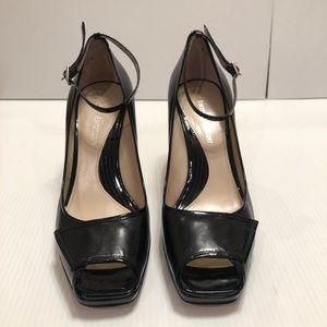 Enzo Angiolini Black Leather Shoes Size 8M